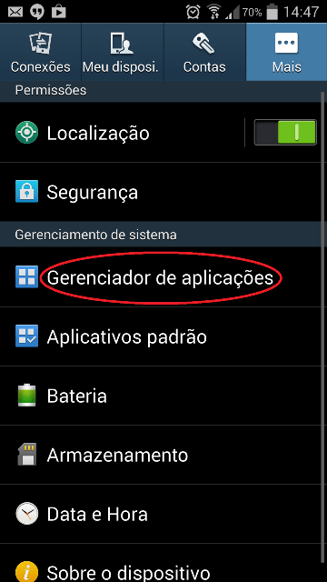 Como limpar o cache do Google Play  Store 1