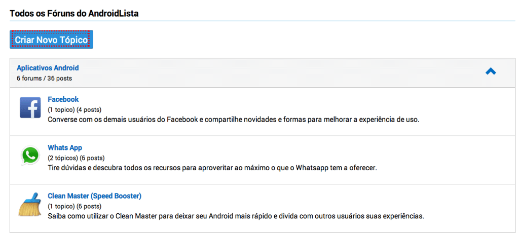 Fórum Android   Dicas Android