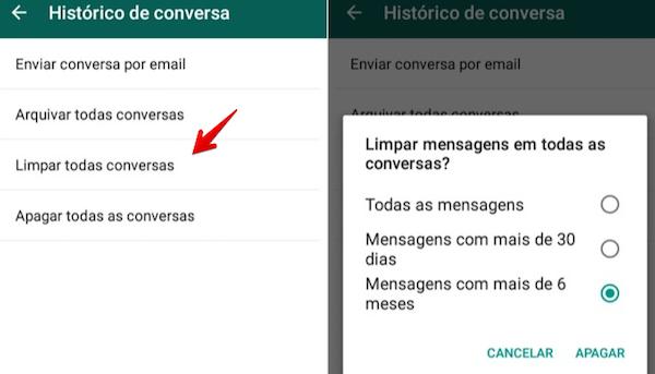imagem 3 WhatsApp- como apagar mensagens antigas no Android