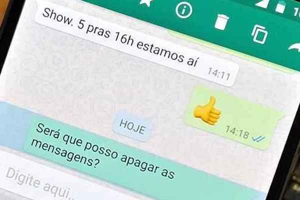 imagem 2 WhatsApp- como apagar mensagens antigas no Android