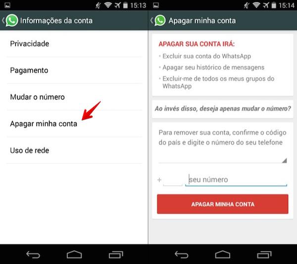 imagem 3 Como desativar ou excluir a conta do WhatsApp