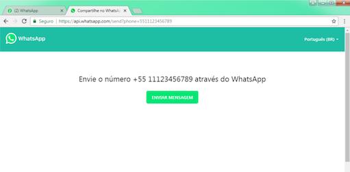 imagem 1 WhatsApp- como enviar mensagens para quem não está na lista de contatos