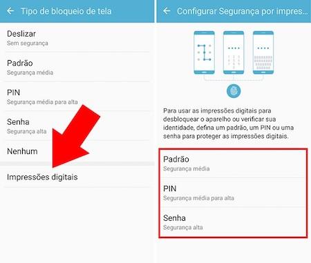 imagem 2 Como ativar no Android desbloqueio com digital ou reconhecimento facial