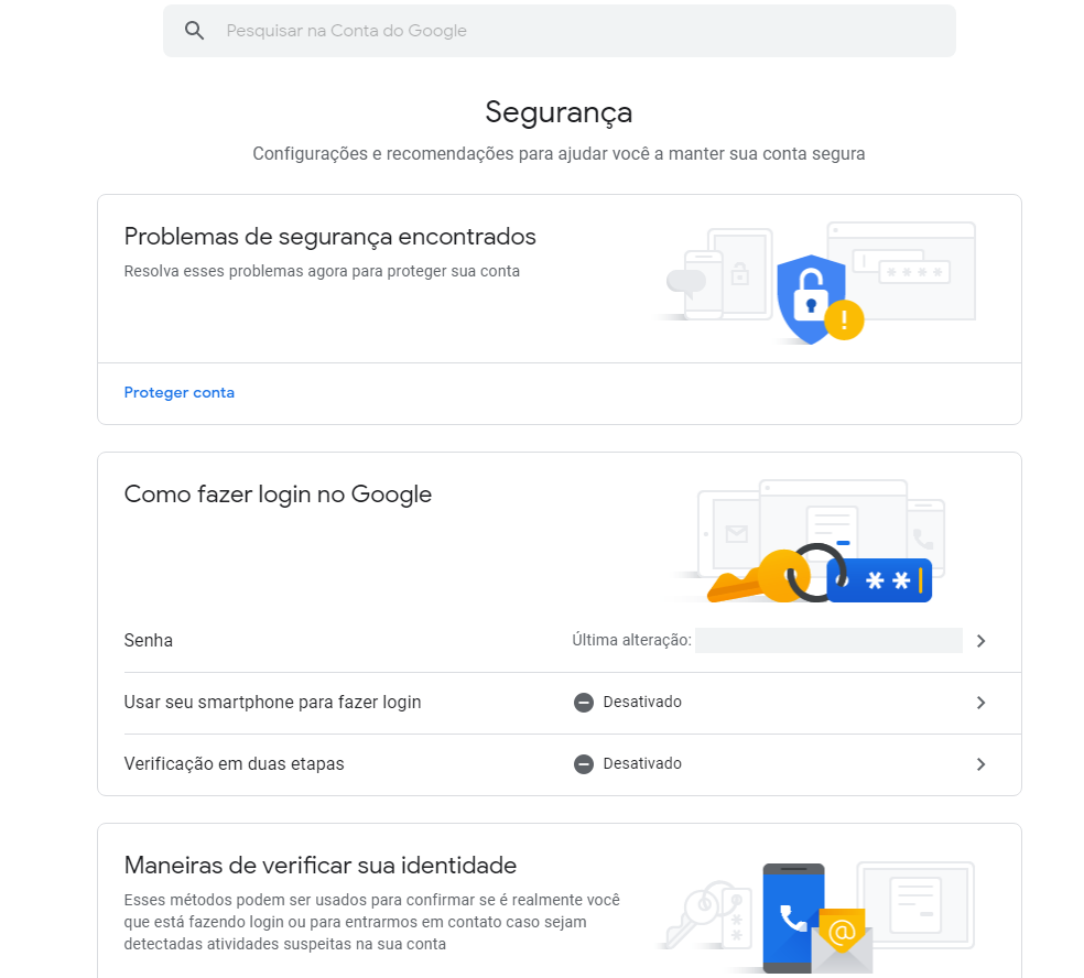 Segurança do Google