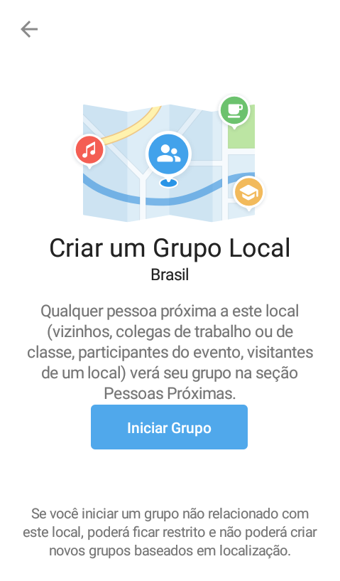 Criar grupo local