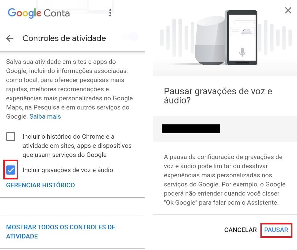 Configuração Google 2