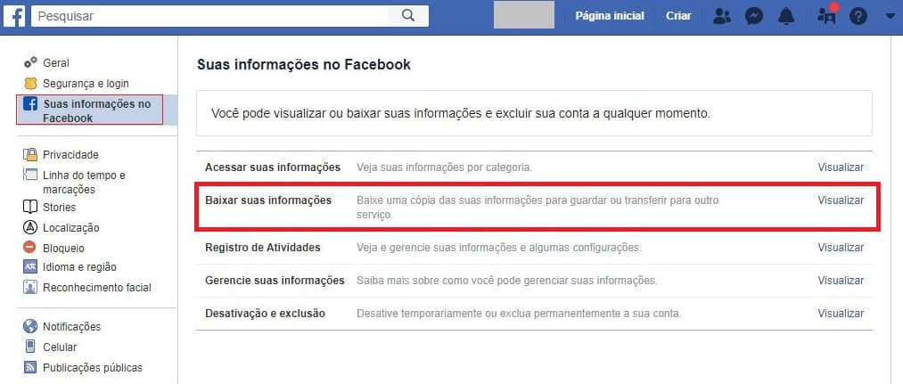 Baixar fotos do Facebook 2