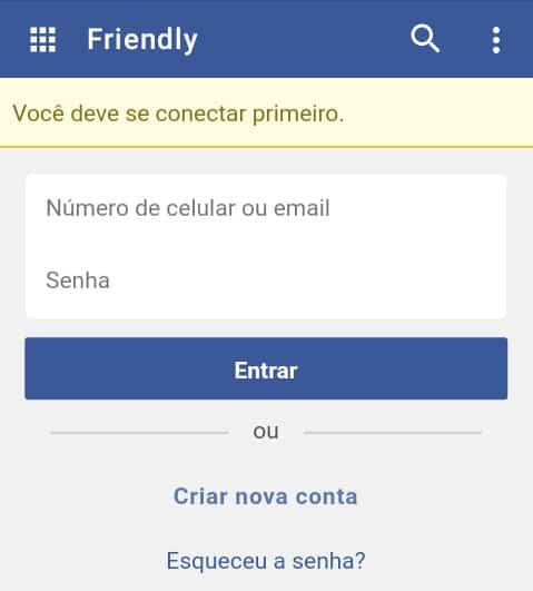 Friendly for Facebook Login