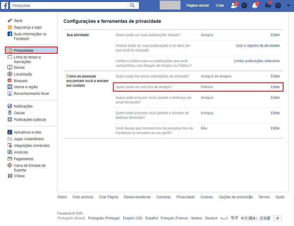 imagem 3 de Como ocultar a lista de amigos do Facebook
