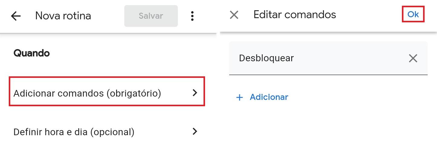 Comando de voz - Google Assistente 2