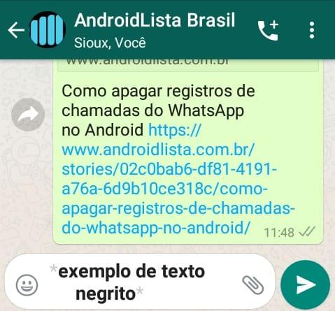 Negrito WhatsApp