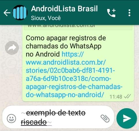 Riscado WhatsApp