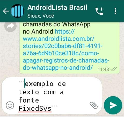 FixedSys WhatsApp
