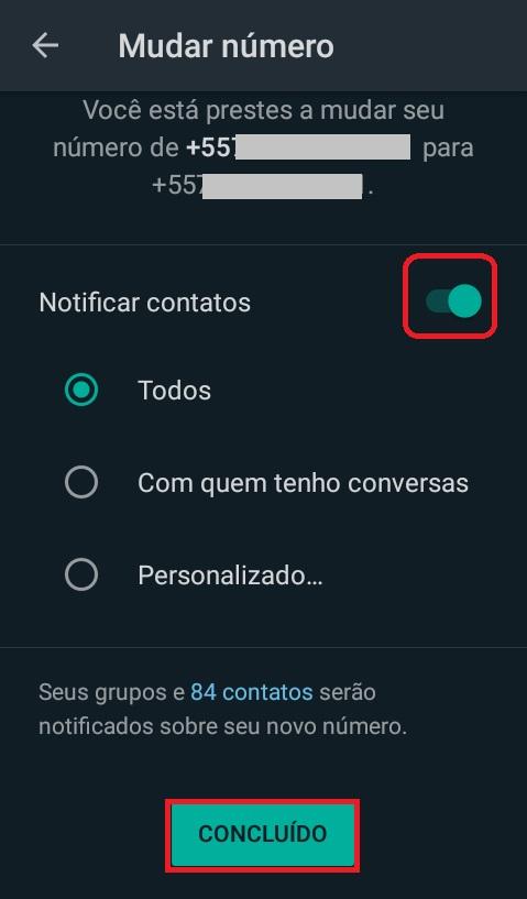 imagem 5 de Como mudar o número de telefone no WhatsApp