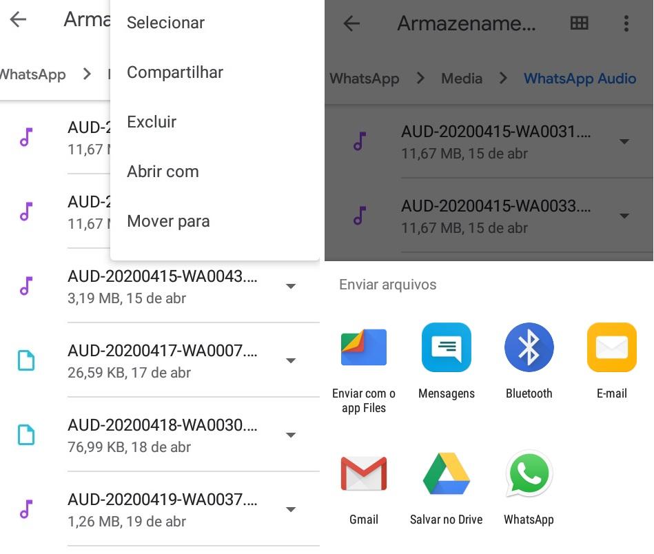 imagem 6 de WhatsApp como encontrar as mensagens de voz no Android