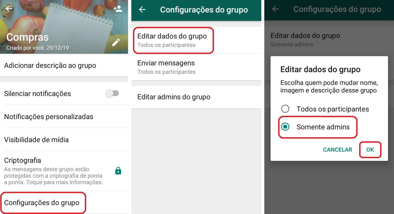 imagem 3 de WhatsApp como alterar as configurações de admin em grupos