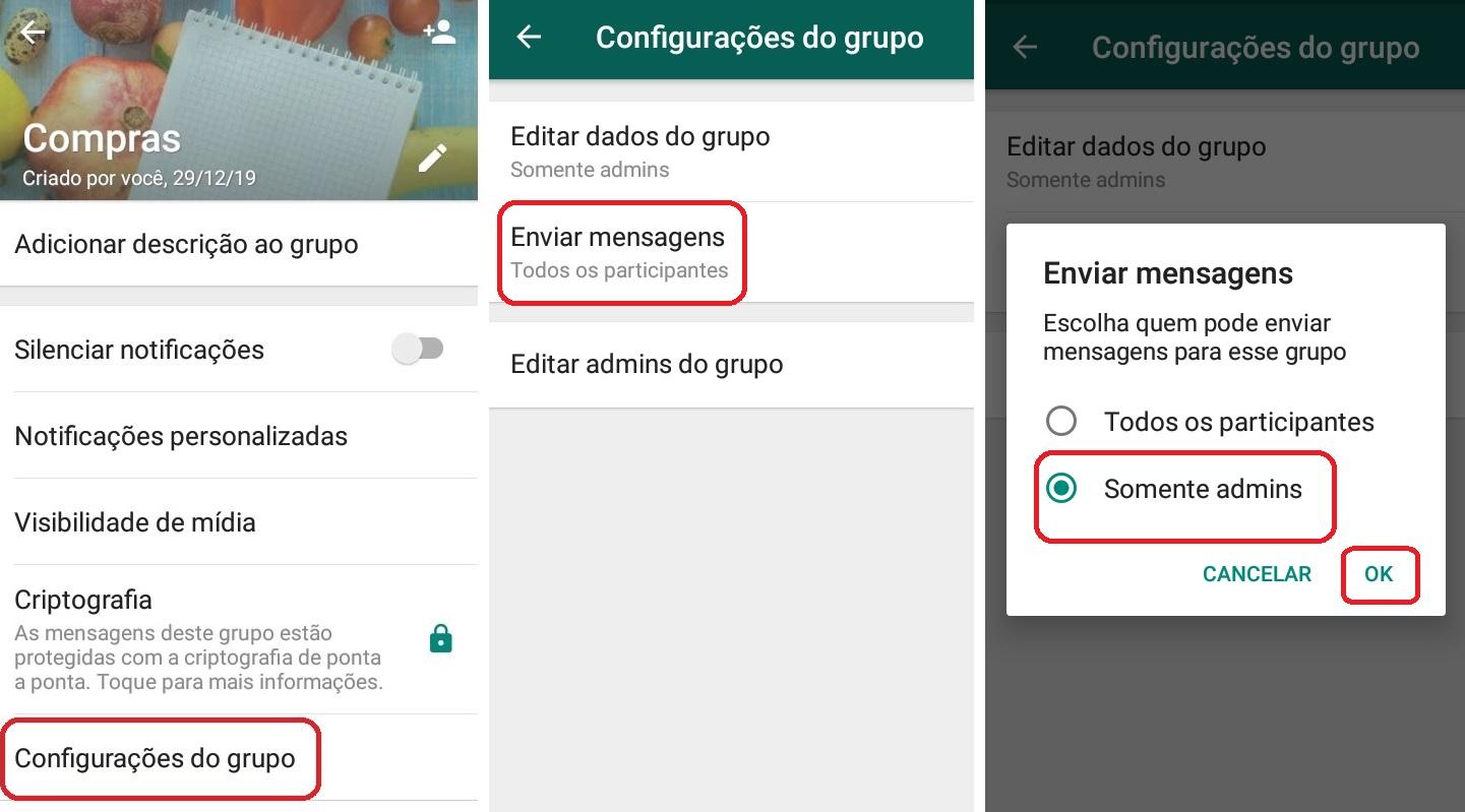 imagem 4 de WhatsApp como alterar as configurações de admin em grupos