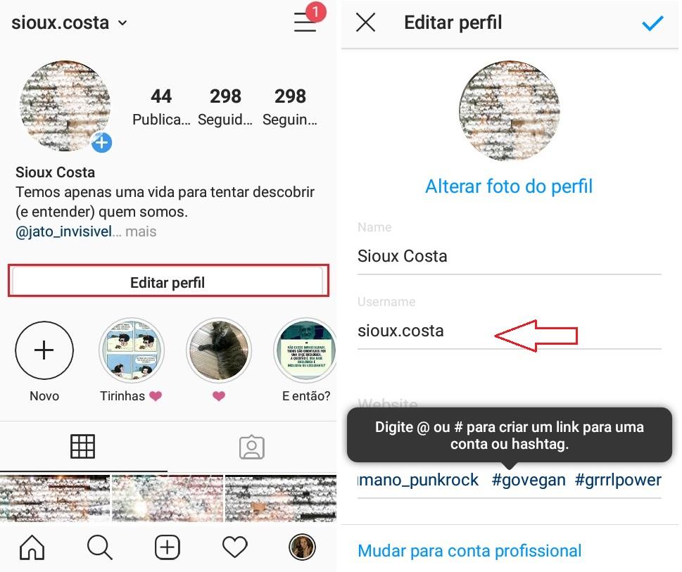imagem 2 de Dicas para Instagram como mudar o nome de usuário na rede social