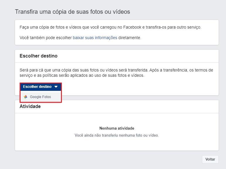 imagem 4 de Como transferir as fotos do Facebook para o Google Fotos