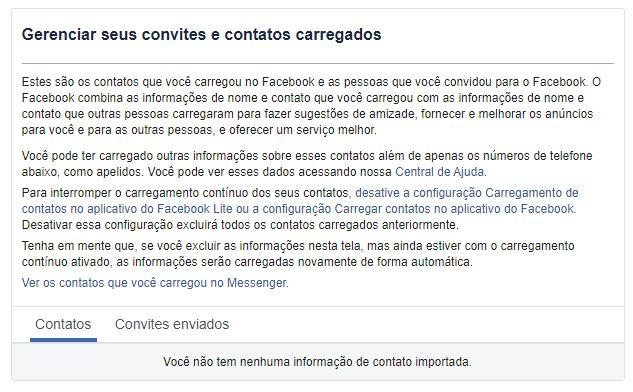 imagem 4 de Como excluir os contatos telefônicos no Facebook