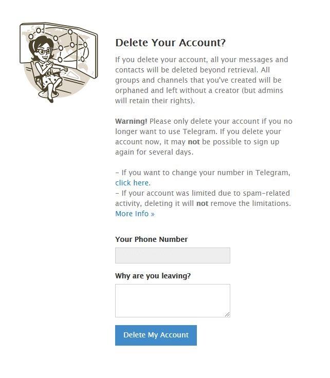 imagem 7 de Como desativar ou excluir a conta no Telegram