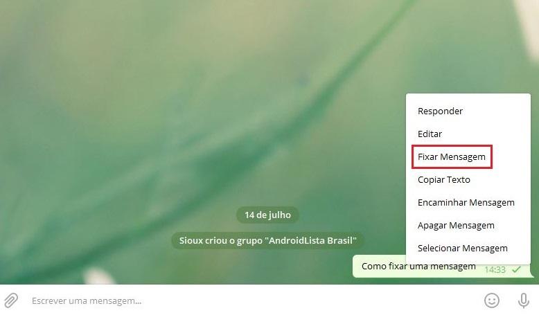 imagem 3 de Como fixar uma mensagem em grupos e canais no Telegram