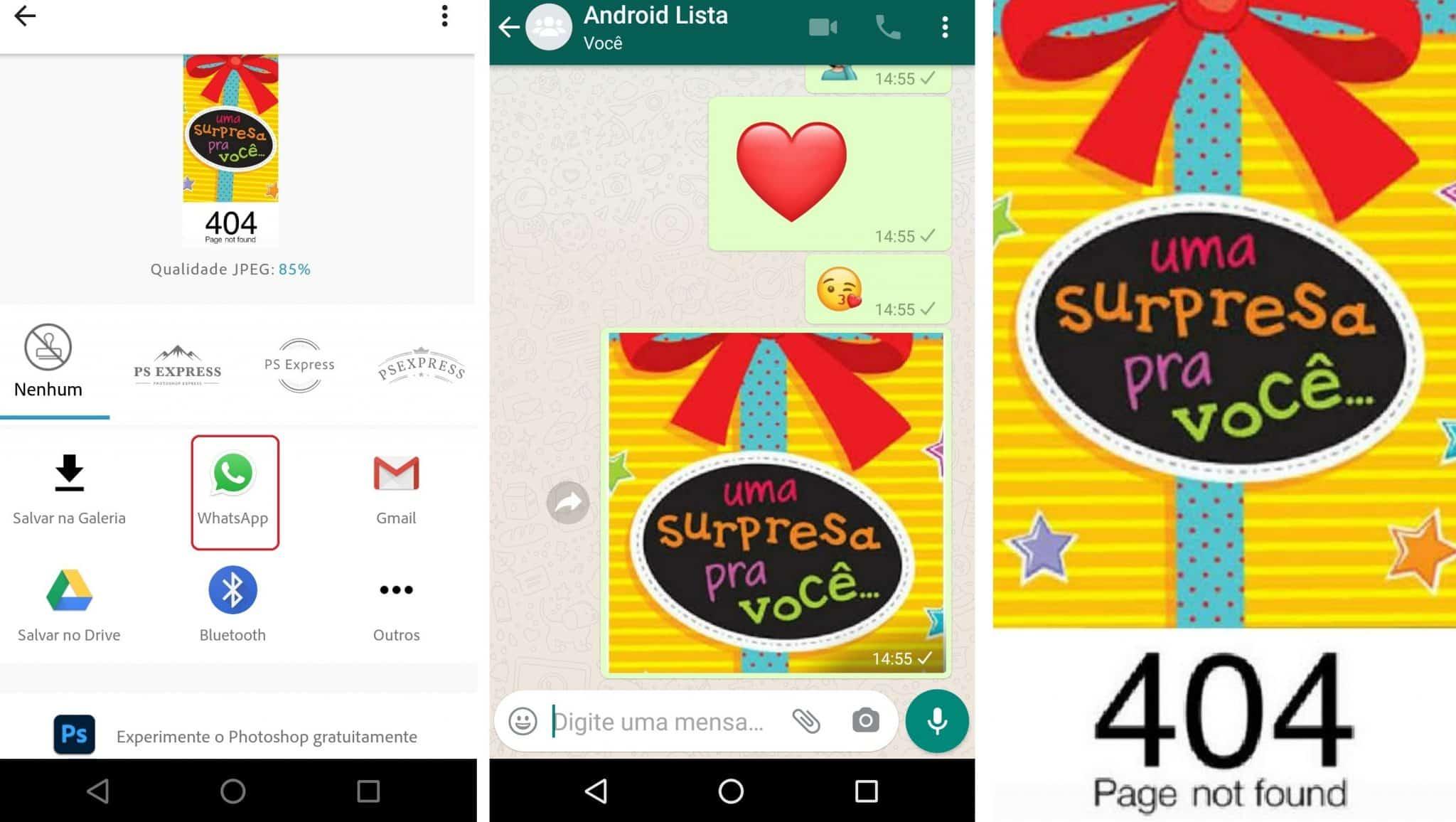 imagem 6 de Como enviar no WhatsApp imagens que mudam depois de abertas