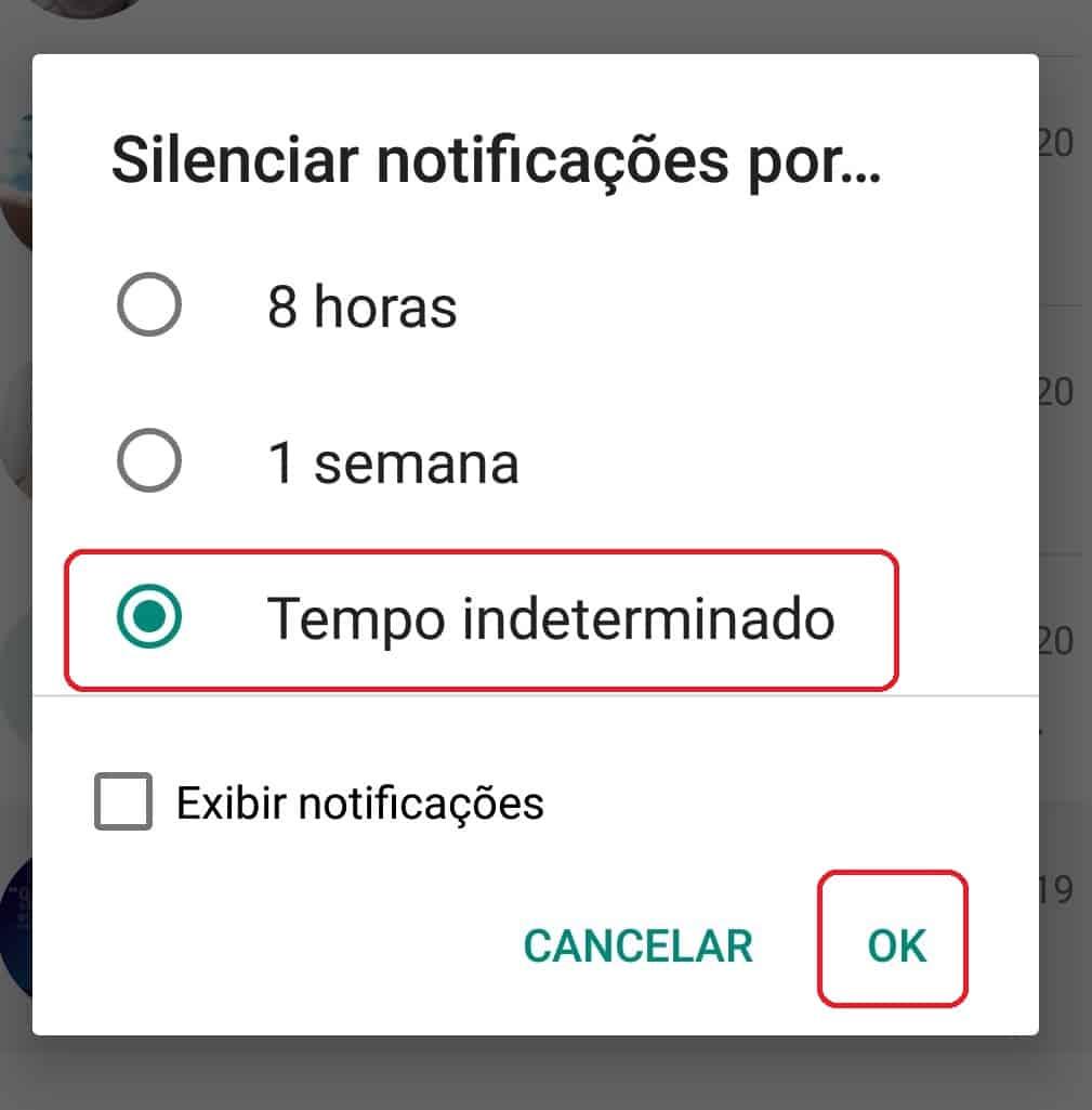imagem 5 de Atualização do WhatsApp versão beta permite silenciar conversas para sempre