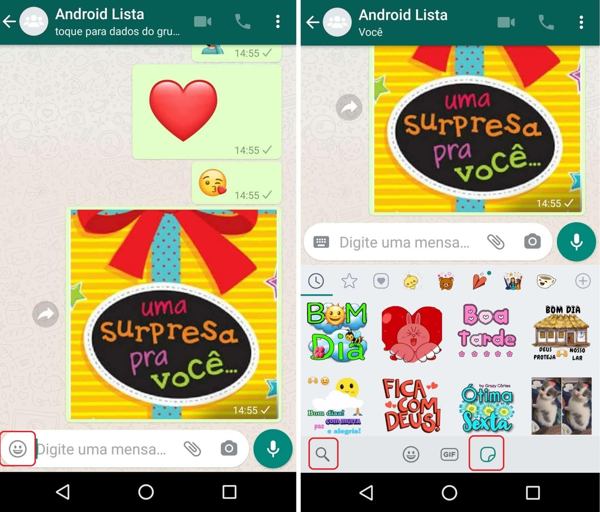 imagem 3 de WhatsApp libera nova busca de figurinhas na versão Beta