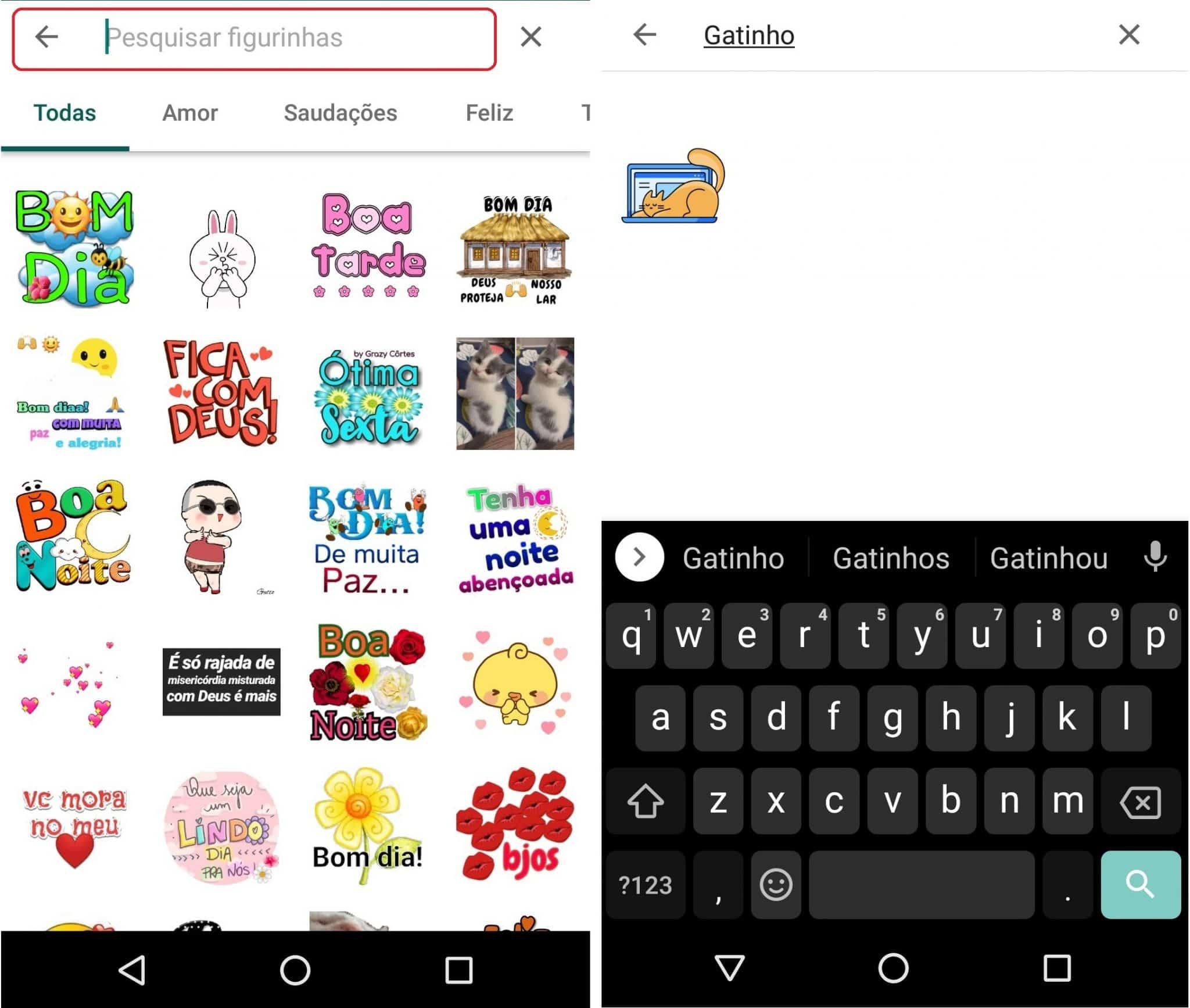 imagem 4 de WhatsApp libera nova busca de figurinhas na versão Beta