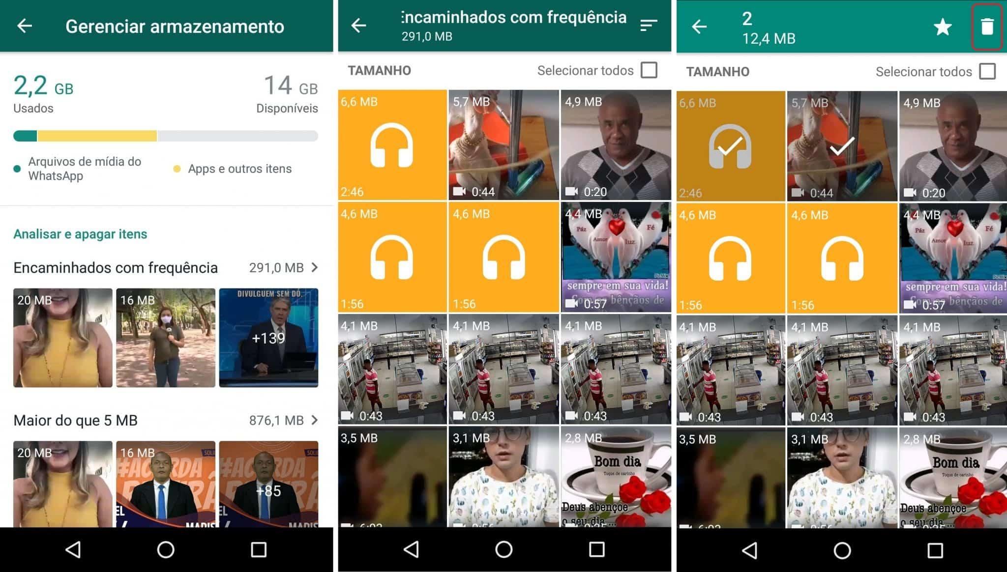 imagem 5 de WhatsApp melhora o gerenciamento de espaço saiba como funciona a nova ferramenta