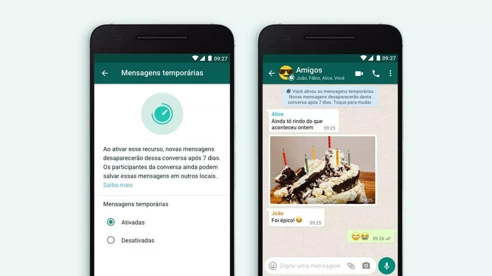 imagem 2 de Como ativar as mensagens temporárias do WhatsApp