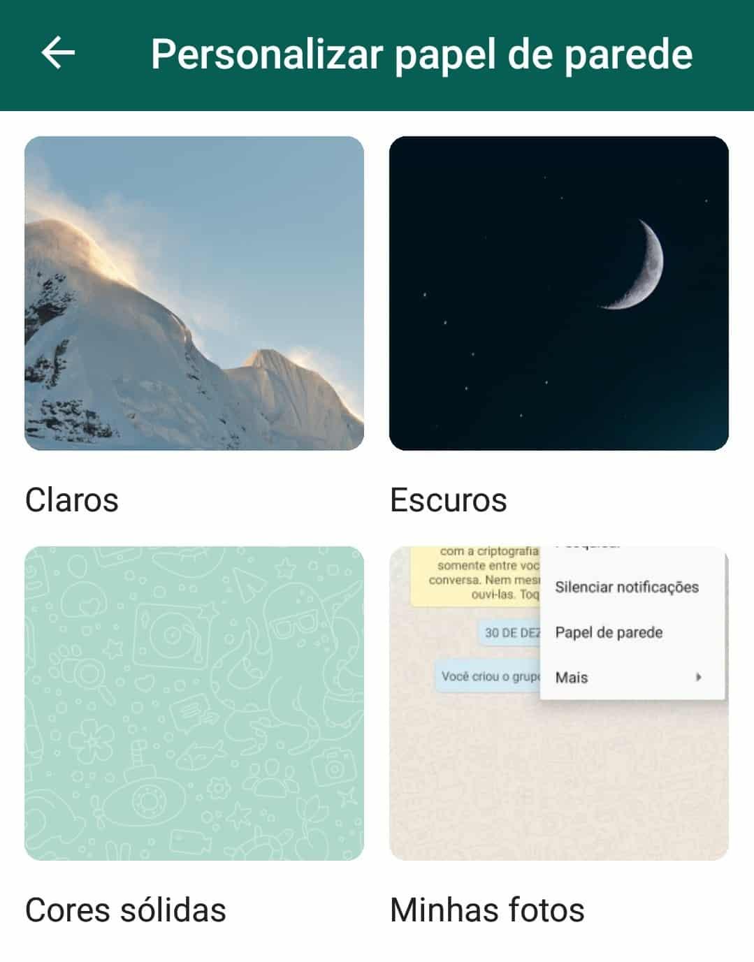 imagem 3 de Melhores wallpapers para personalizar as conversas do WhatsApp