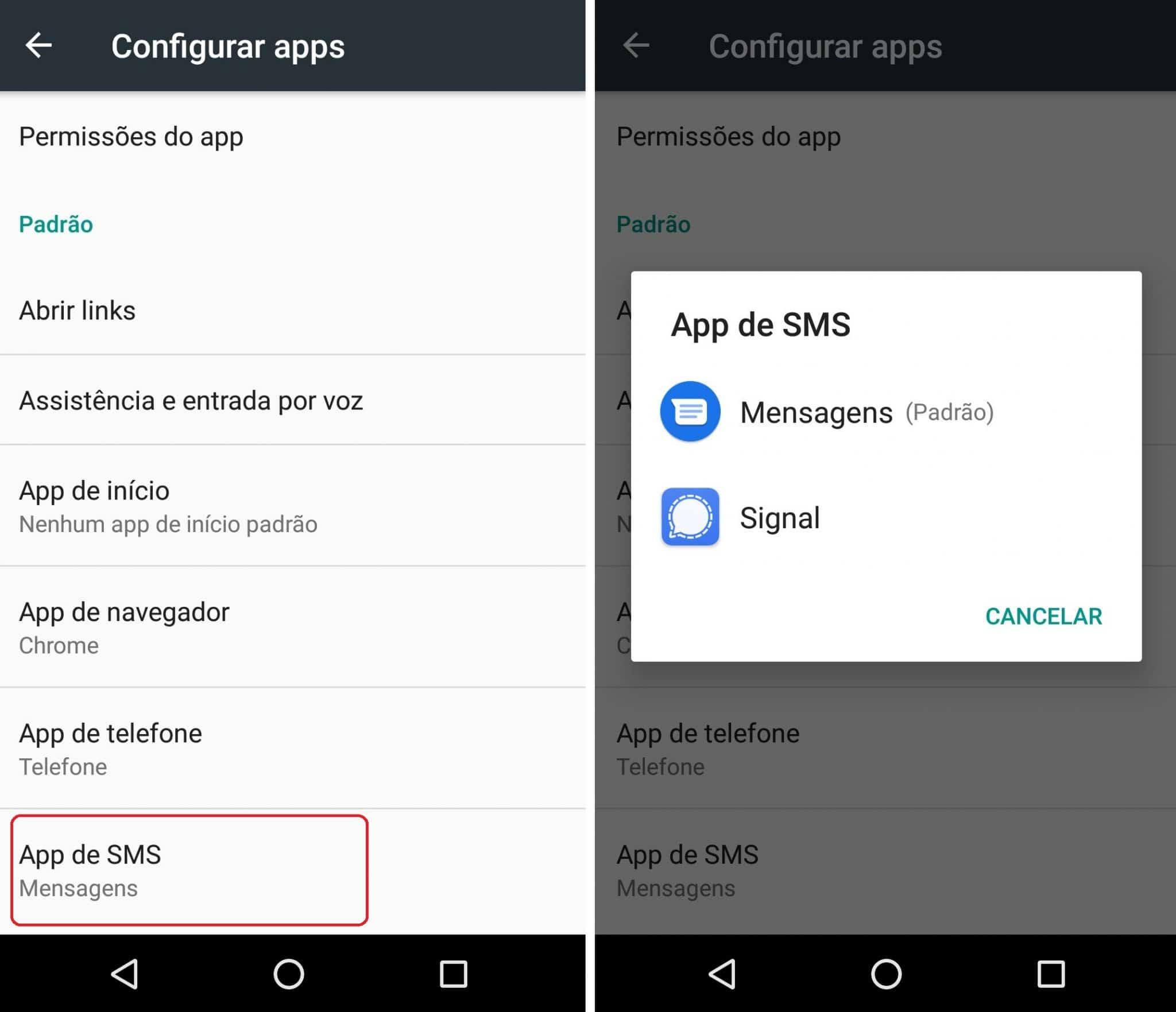 imagem 5 de Como configurar o aplicativo de SMS padrão do Android