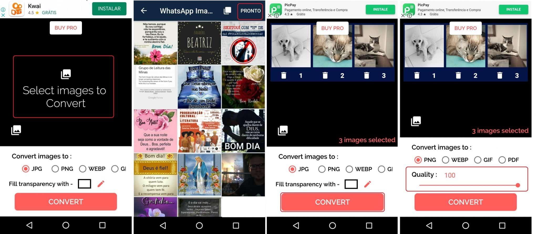 imagem 2 de Como converter fotos e imagens em vários formatos no Android