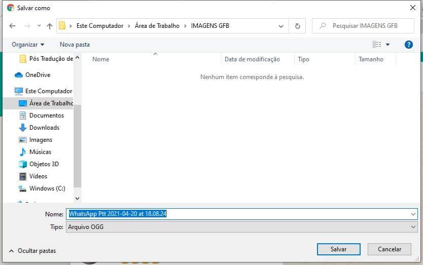 imagem 3 de Como salvar os áudios do WhatsApp no PC ou Android