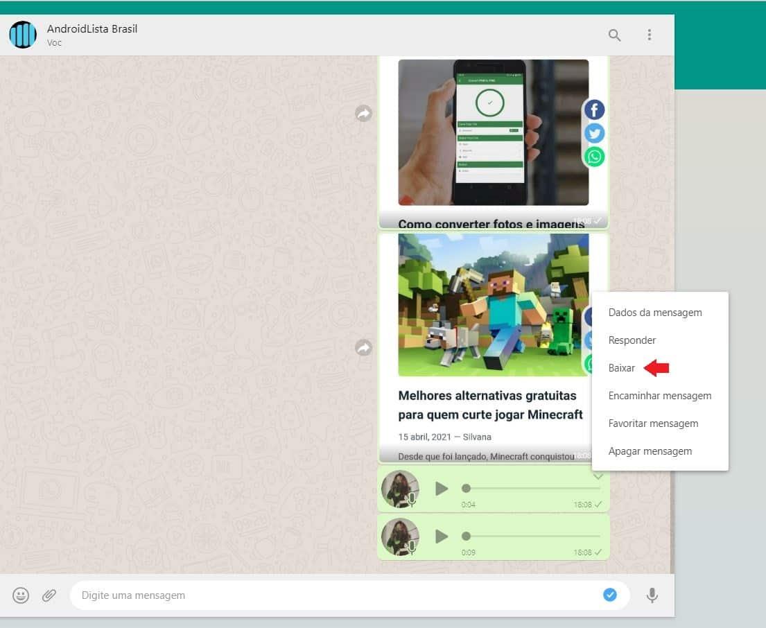 imagem 2 de Como salvar os áudios do WhatsApp no PC ou Android