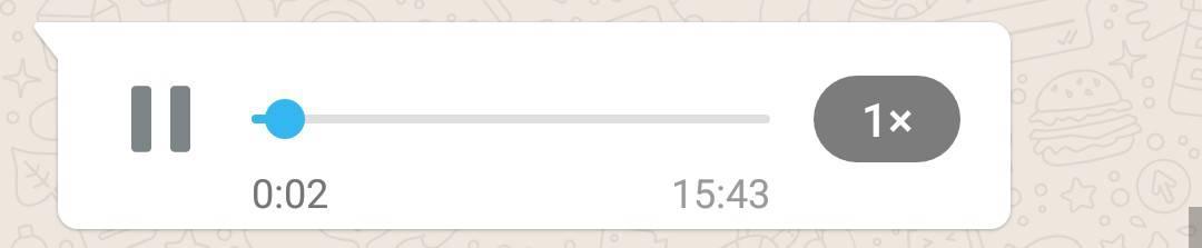 imagem 2 de WhatsApp atualização permite acelerar a reprodução das mensagens de voz