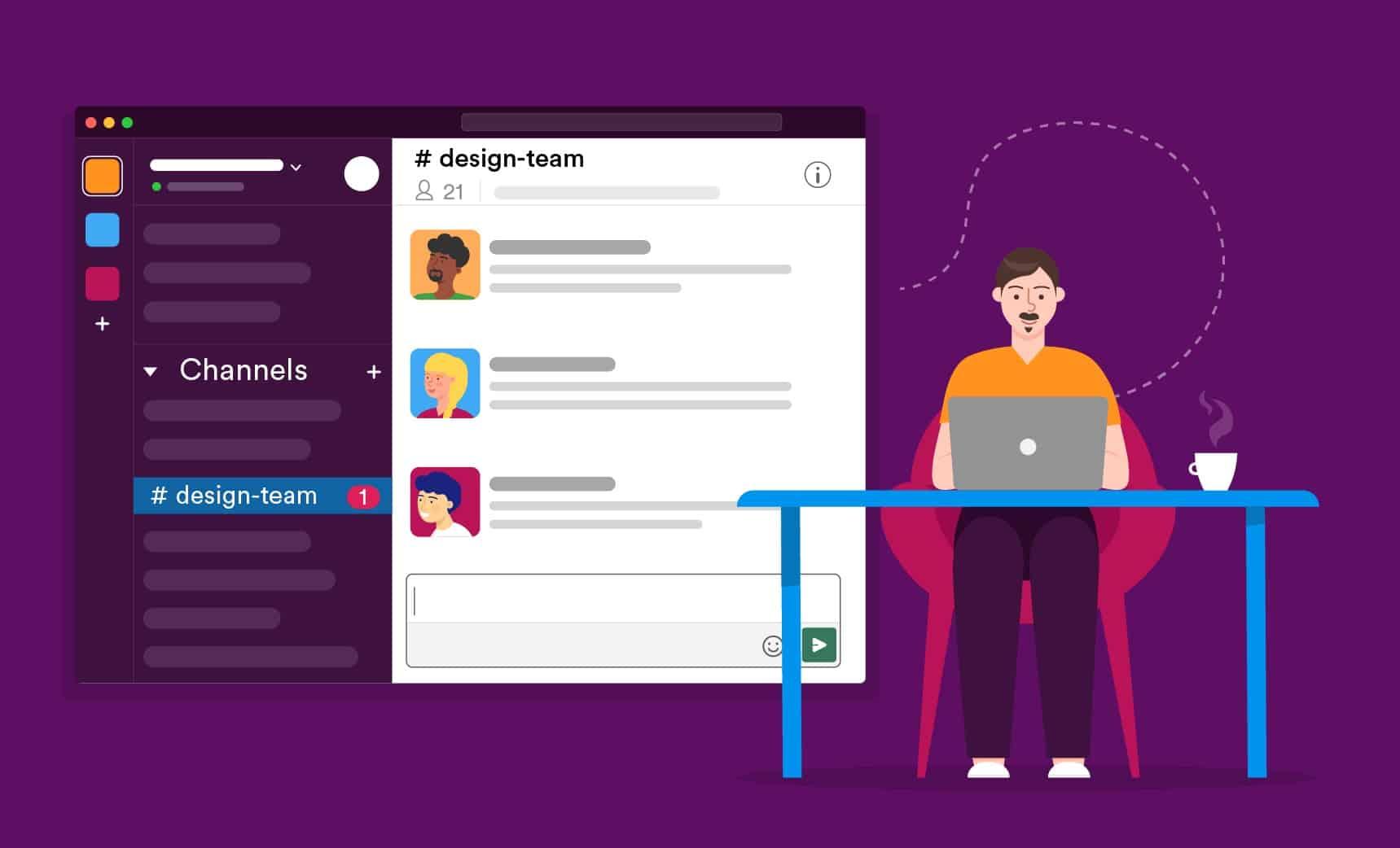 imagem 1 de Alternativas ao Slack opções gratuitas para manter a comunicação em equipe