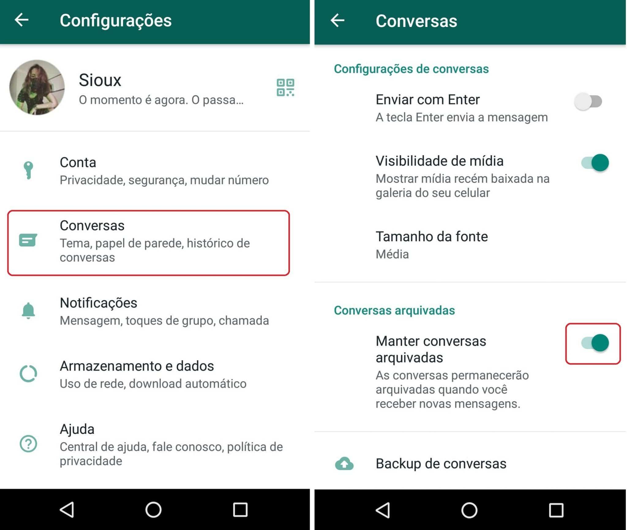 imagem 4 de WhatsApp como manter as conversas arquivadas permanentemente