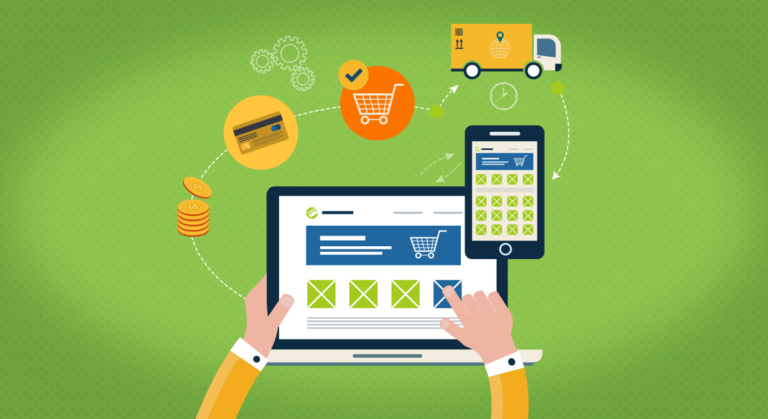 image of online shopping and selling