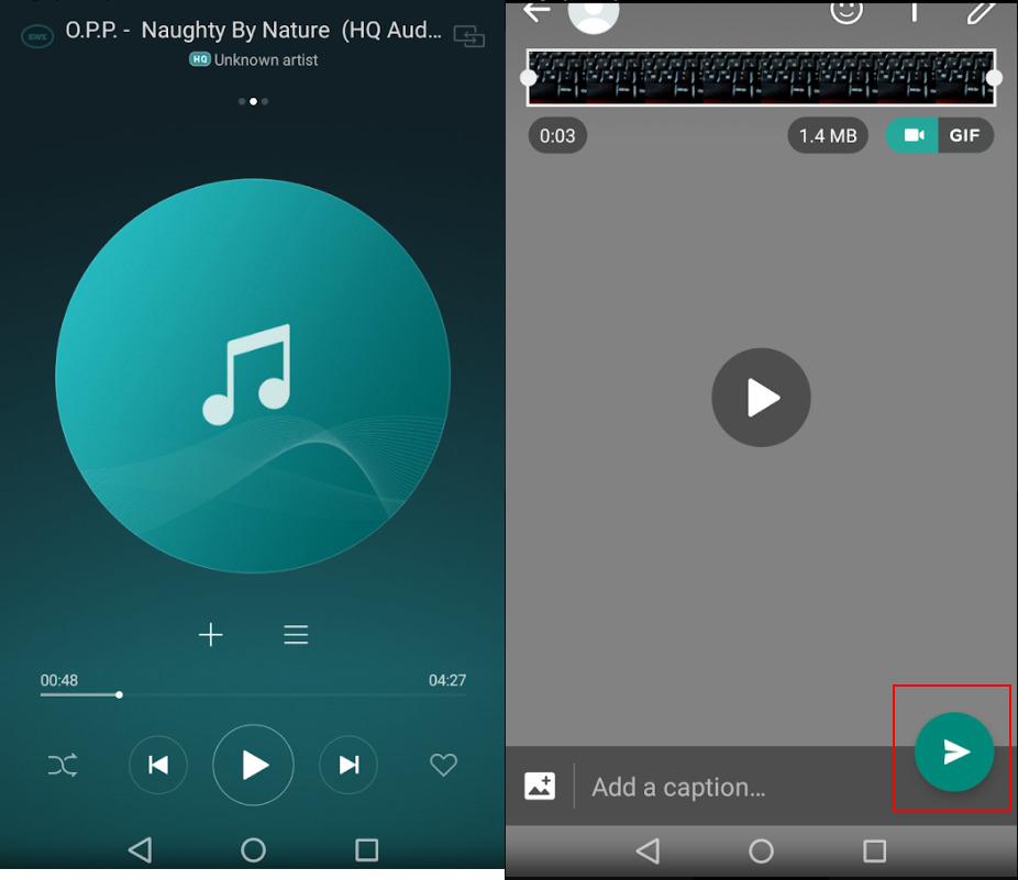 Image 2 WhatsAppのスタータスにバックグラウンドミュージックを追加する方法