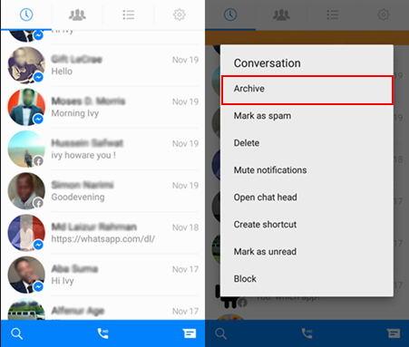 Image 1 秘密の会話:Facebook メッセンジャーとWhatsAppのチャットを隠そう