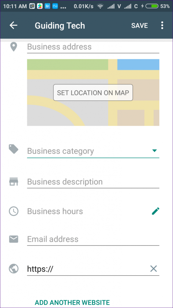 WhatsApp-Business-profile