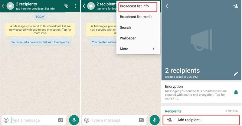 3 Hướng dẫn sử dụng tính năng gửi tin nhắn cho danh sách WhatsApp Broadcast