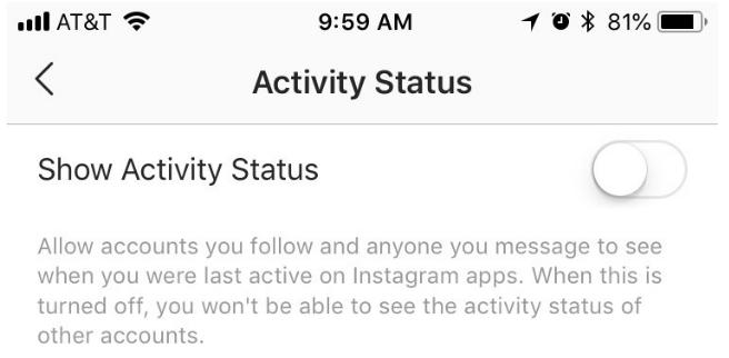 3_Hướng dẫn cách giấu trạng thái hoạt động trên ứng dụng Instagram