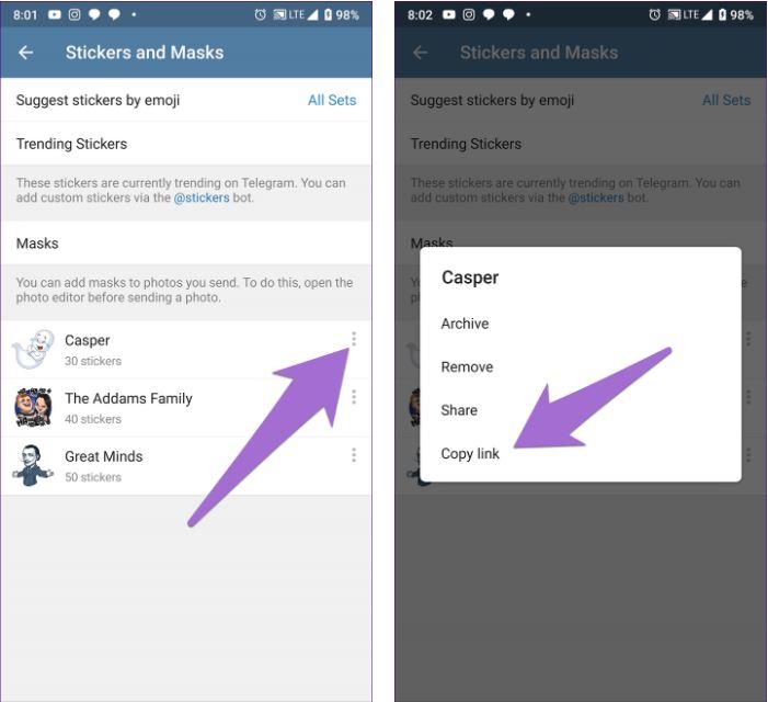 4_Hướng dẫn cách tải và sử dụng hình dán của Telegram cho WhatsApp trên Android
