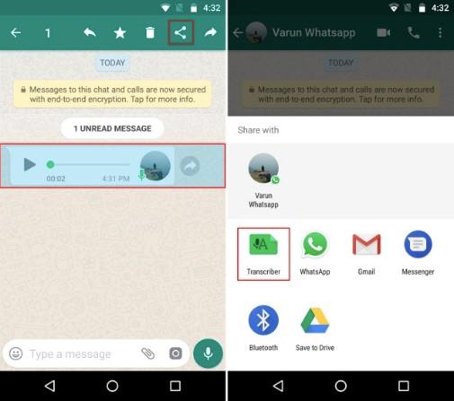 2_Hướng dẫn cách biến tin nhắn lời nói thành văn bản trên WhatsApp