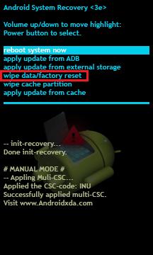"""image of """"เมื่อดำเนินการรีเซ็ตเป็นค่าเริ่มต้นจากโรงงานคุณจะสามารถเข้าถึงอุปกรณ์ได้โดยไม่ต้องป้อนรหัสผ่านล็อค"""""""