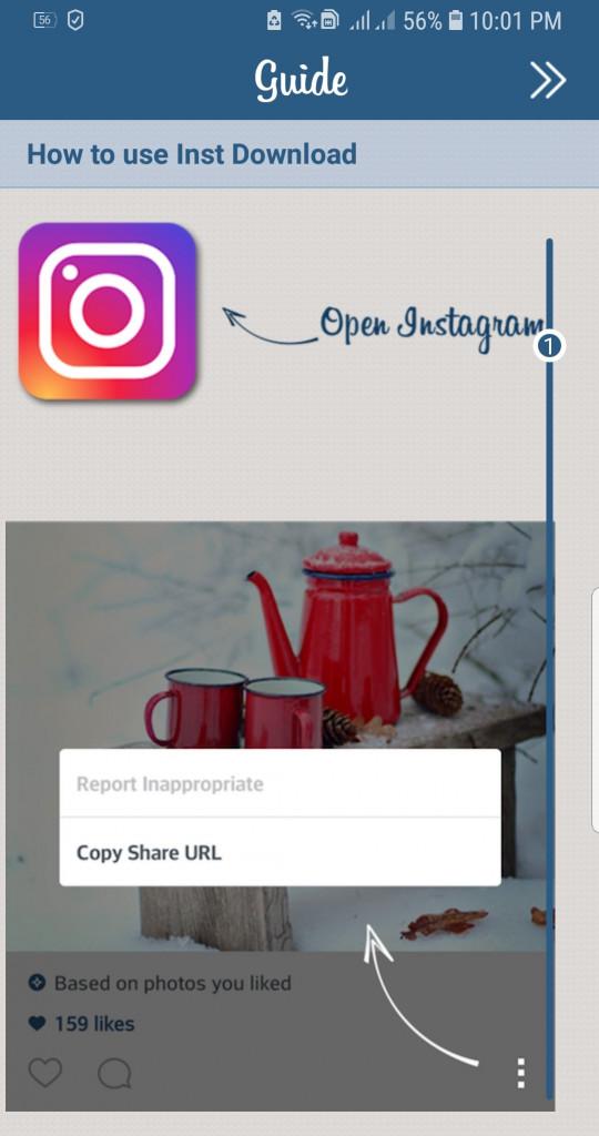 """image of """"ดาวน์โหลดรูปภาพหรือวิดีโอ Instagram บนแอนดรอยด์"""""""